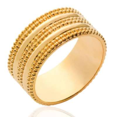 Ring tube fantaisie Gold plated 18k - Women