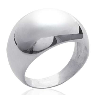 Grosse Anillo dôme 13mm Argent - Mujer
