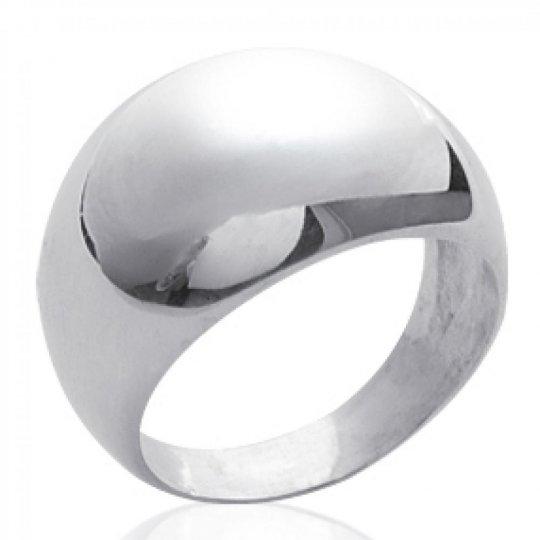 Grosse Ring dôme Argent - Women