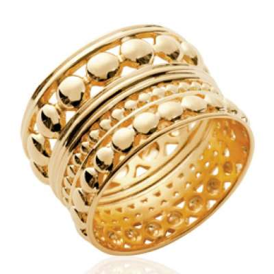 Ring tube of Bali Gold plated 18k - Women