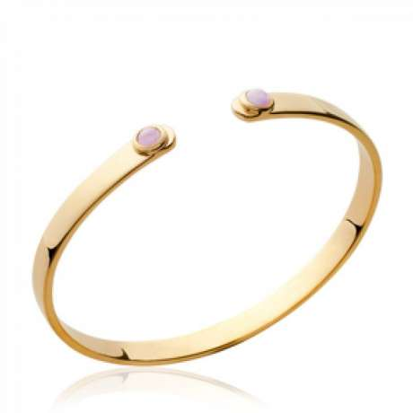 Bracciale Bangle pierres d'imitation roses Placcato in oro 18k - Donna - 58mm