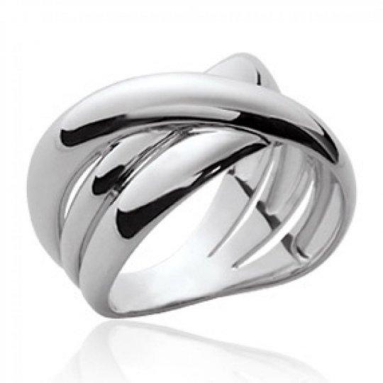 Grosse Ring entrelacée Argent - Women