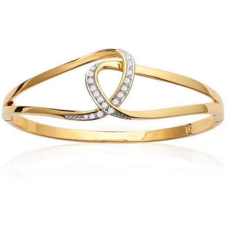 Bracciale Bangle boucles Bicolores Infinito enlacées Placcato in oro 18k - Donna - 62mm