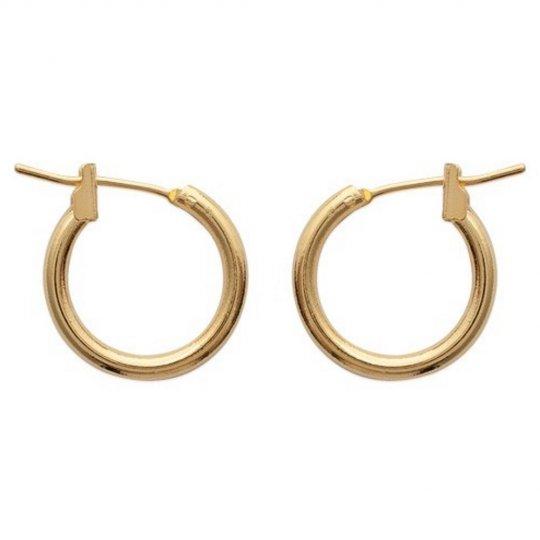 Petites Hoop Earrings Gold plated 18k 16mm - Women