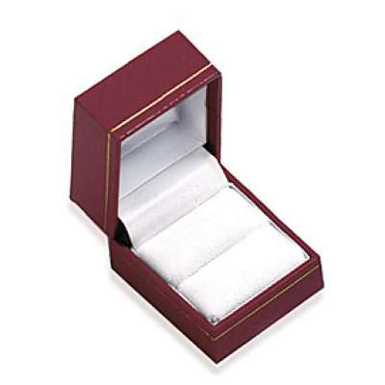 Écrin rouge pour bague boite cadeau