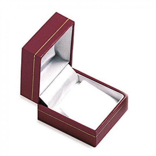 Écrin Pelle rouge pour Orecchini boite cadeau 25mm