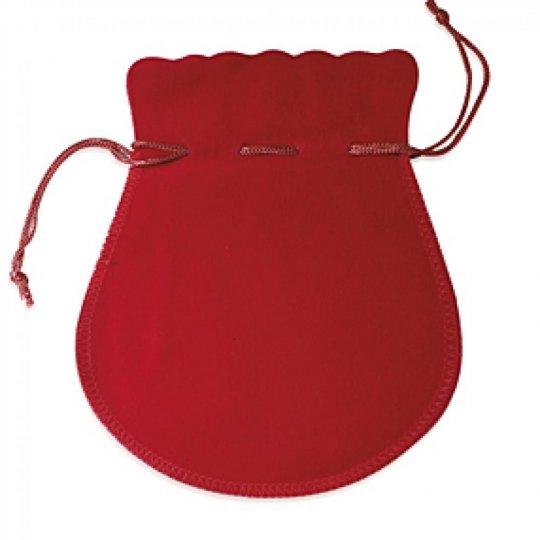 Pochon rouge 40mm pour Boucles d'oreilles Bague Chaîne...