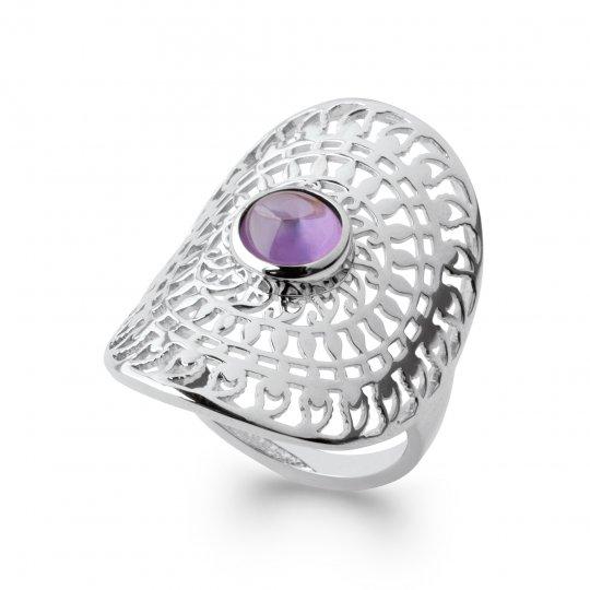 Ring couvrante Lacework bohème Argent Rhodié - Zirconium...