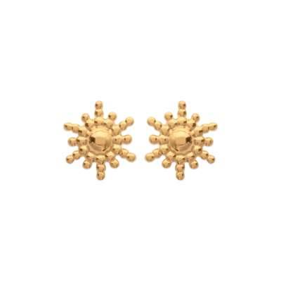 Earrings puces Soleil Rayonnant Gold plated 18k - Women