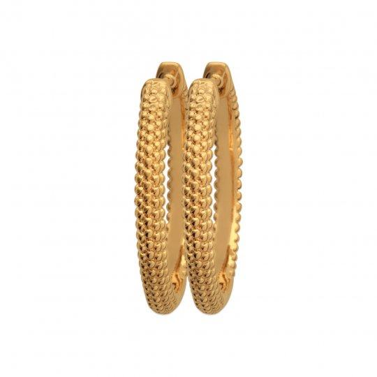 Cerchio Orecchini perlées épaisses Placcato in oro 18k -...