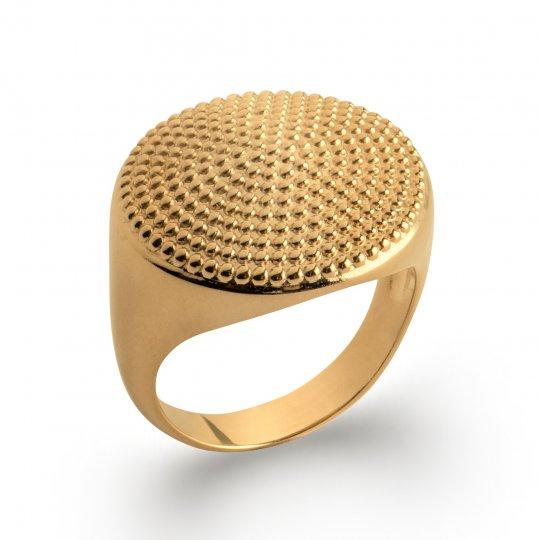 Grosse Ringe Siegelring perlée Vergoldet 18k - Damen
