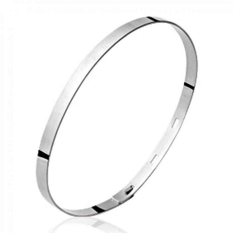 Armband réglable 925 Sterling Silber rhodiniert pour Männer Damen - 56mm