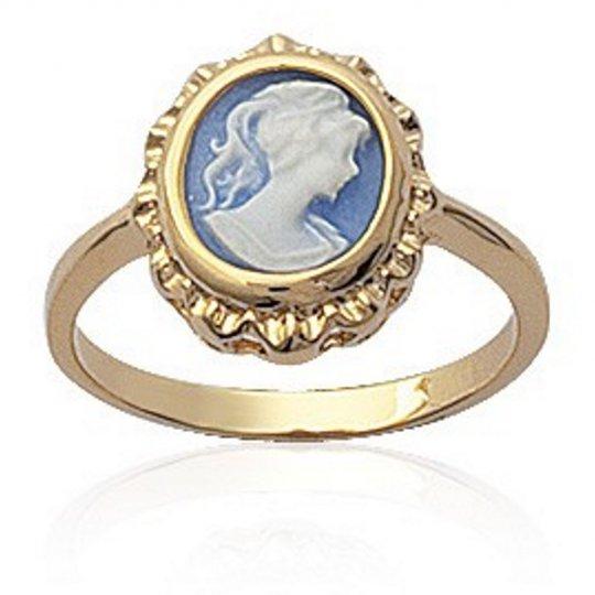 Ring camée bleue Gold plated 18k - Women
