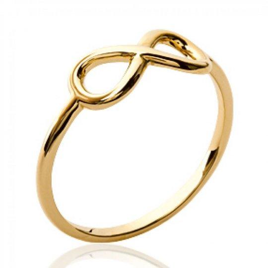 Ring fine Infinite Gold plated 18k - Women