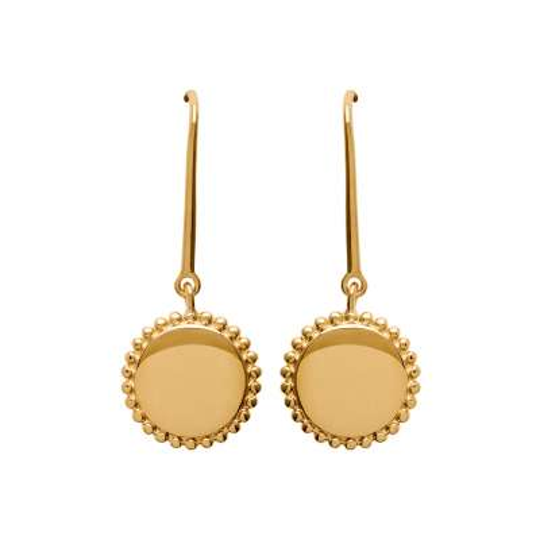 Earrings crochets piécette  Gold plated 18k - Women