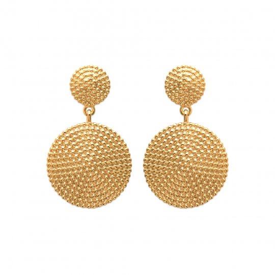 rondes coniques perlées Chapado en Oro 18K