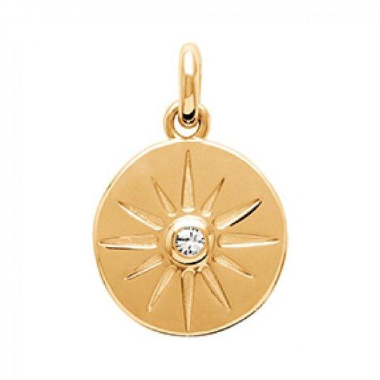 Pendants Étoile Brillante Gold plated 18k - Zirconium -...