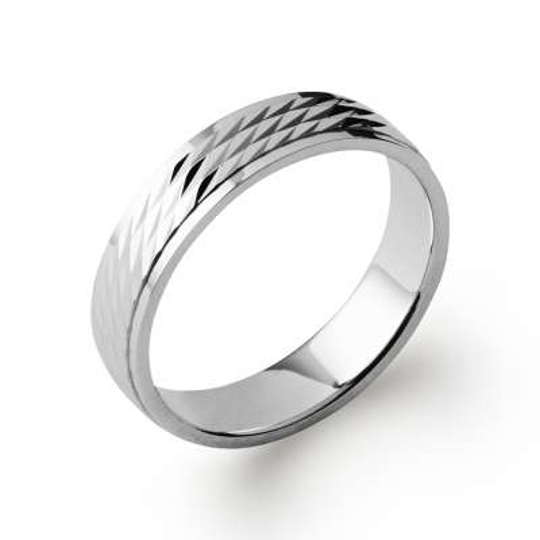 Wedding ring Engagement for Men Argent Rhodié