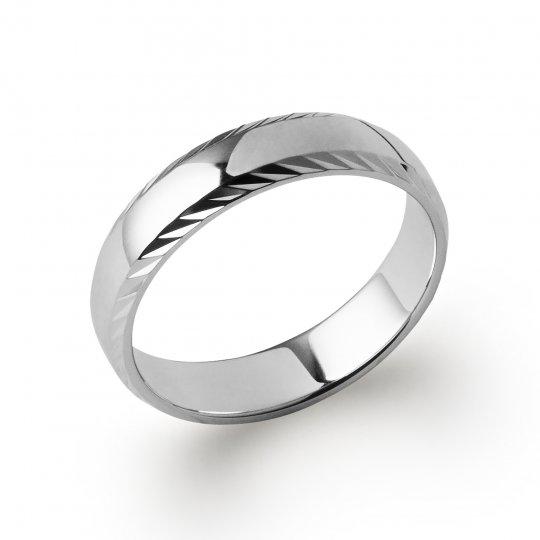 Wedding ring Engagement originale pour for Men Argent Rhodié
