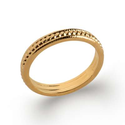 Wedding ring Engagement Chic Gold plated 18k - Women