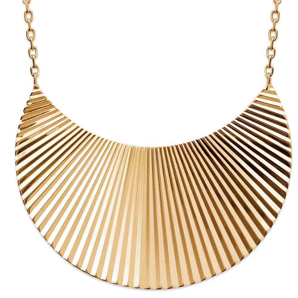 Necklace éclipse avec reflets Gold plated 18k - Women - 45cm