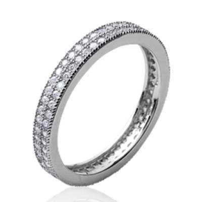 Wedding ring Engagement Argent Rhodié - Cubic Zirconia...