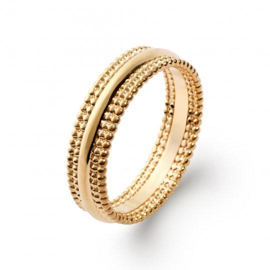 Ringe perlée Vergoldet 18k - Damen