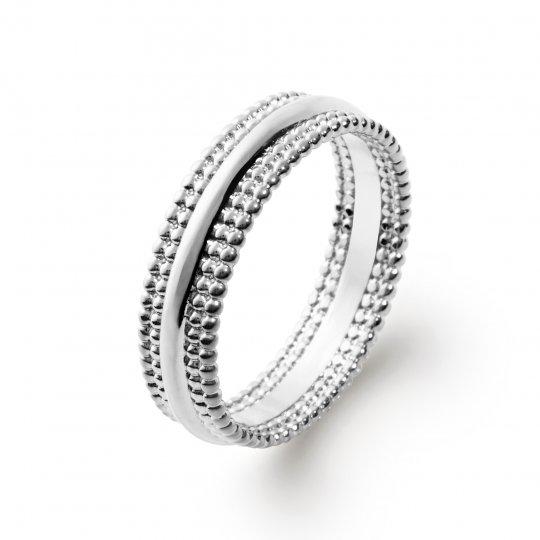 Ring perlée Argent Rhodié - Women