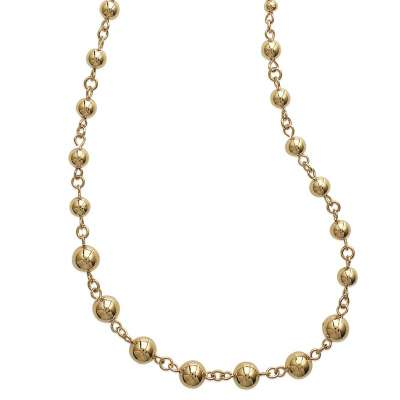 Necklace Ball  Gold plated 18k - Women - 45cm