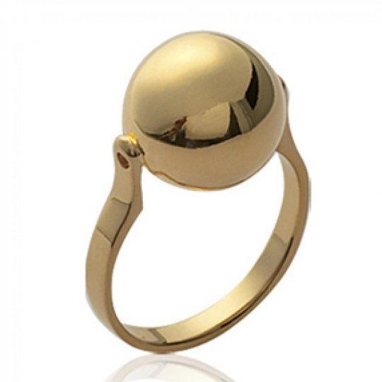 Ringe grosse Ball Vergoldet 18k - Damen
