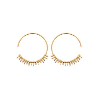 Hoop Earrings stalactites ouvertes 30mm Gold plated 18k -...