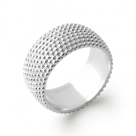 Ring Bangle perlée Argent Rhodié - Women