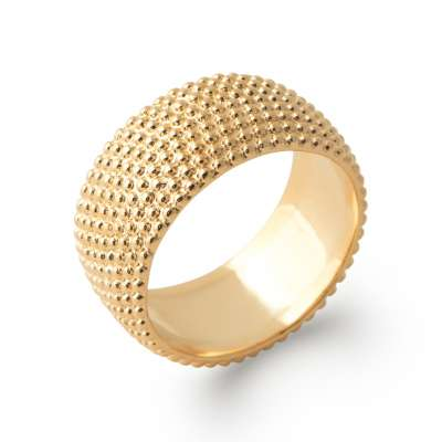 Ring Bangle perlée Gold plated 18k - Women