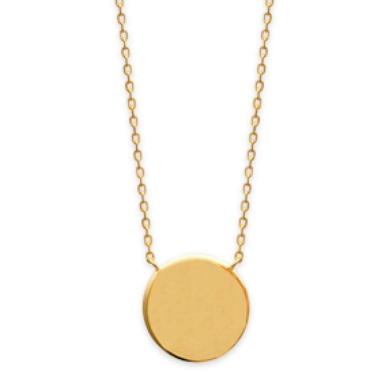 collier or femme medaillon