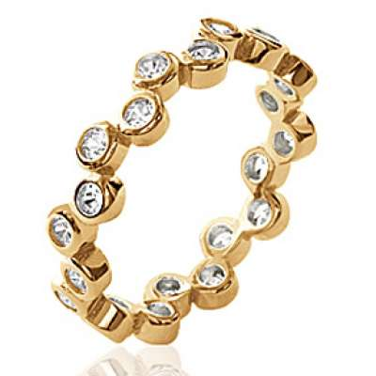 Ring Wedding ring Engagement Gold plated 18k - Zirconium - Women