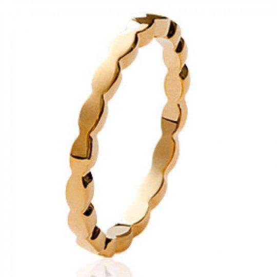 Wedding ring Engagement originale Gold plated 18k - Women