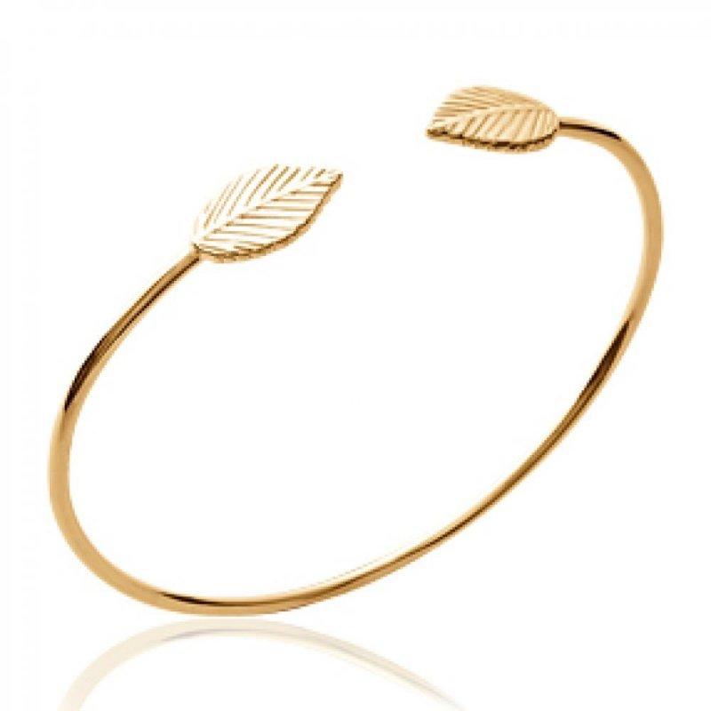 Armband feuilles Naturlles Vergoldet 18k - Damen - 56mm