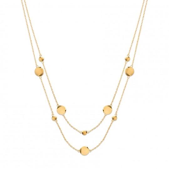 Halskette ras de cou double rang Vergoldet 18k - Damen -...