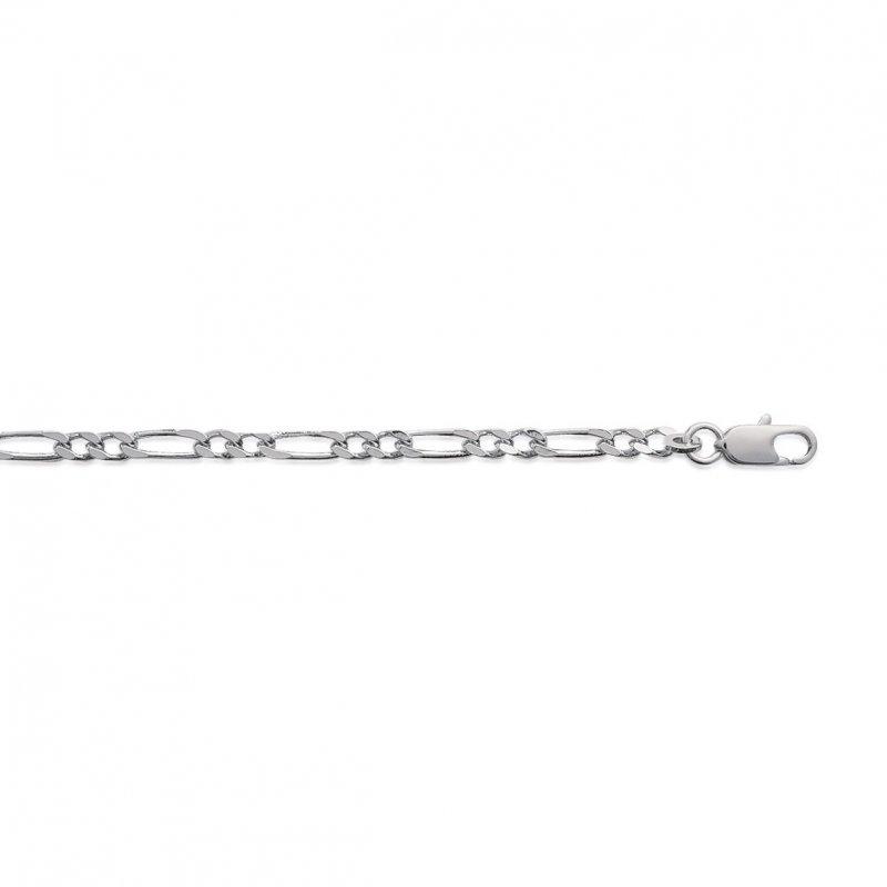 Cadena de cou Figaro Plata de ley 925 - Hombre/Mujer - 45cm