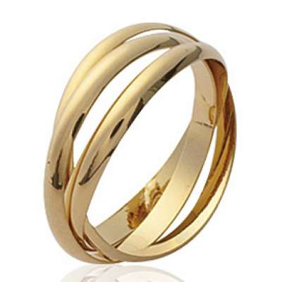 Wedding ring Engagement 2 mm Gold plated 18k - Women