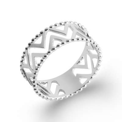 Anillo chic Argent Rhodié - Mujer