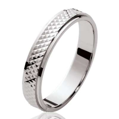 Wedding ring Engagement pour for Men originale Argent Rhodié