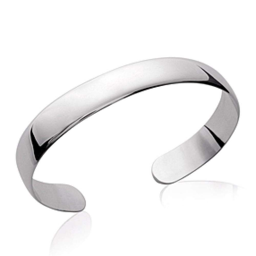 Bangle plat Rhodium plated Sterling Silver - Women - 58mm