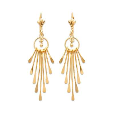 Earrings Gipsy Sirène Coquillage Gold plated 18k - Women