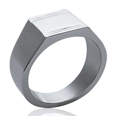 Signet ring for Men Acier 316L Engravable