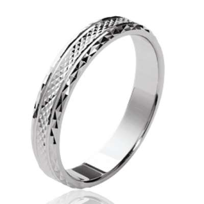 Wedding ring Engagement mixte Argent Rhodié - for Men Women