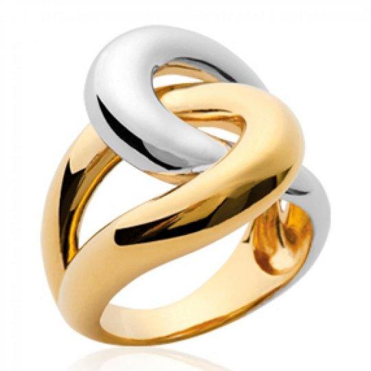 Anello Placcato in oro 18k Bicolore entrelacée - Donna