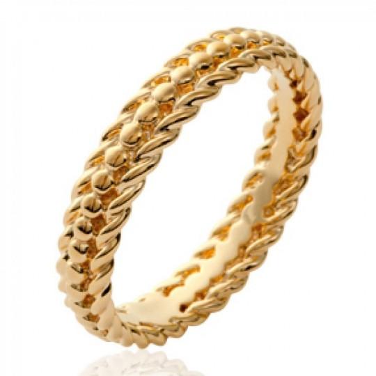 Ringe perlée originale Vergoldet 18k - Damen