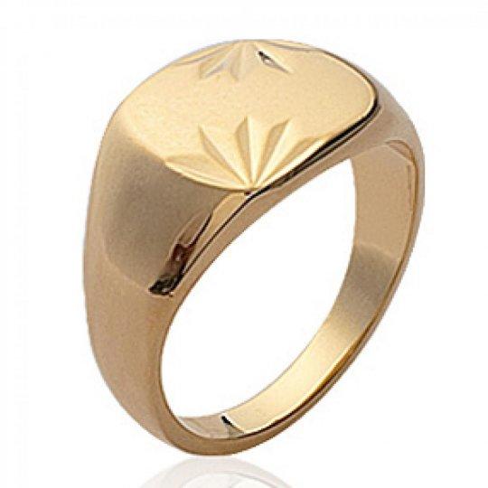 Sortija de sello pour Hombre Chapado en Oro 18K Para Grabar