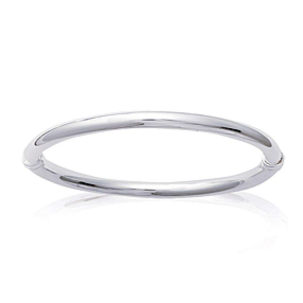 Gros Bracciale Bangle fil épais Argento Sterling 925 Rodiato - Donna - 62mm